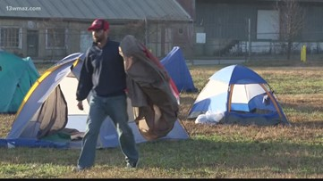 Daybreak stands with homeless with Macon Sleep Out