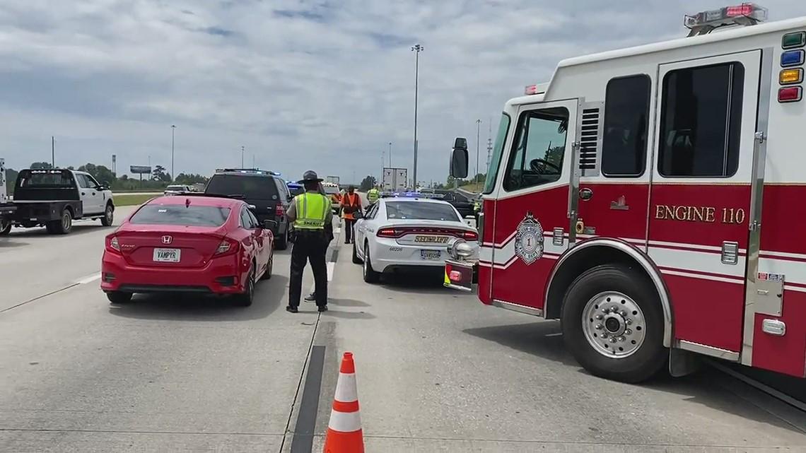 Scene of pedestrian fatality on I-75S in Macon