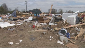'It snatched her out of the trailer:' Tornado leaves Peach Co. High School teacher without a home