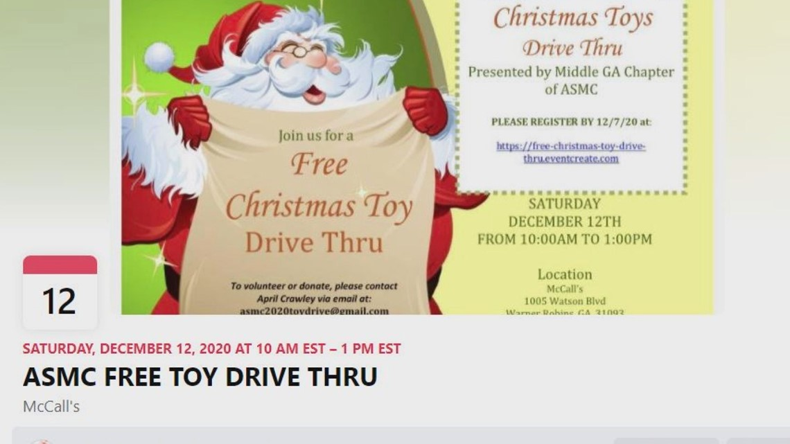 Robins AFB group plans drive thru toy giveaway before Christmas