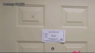 Jewish Georgia College students react to swastika drawings on dorm room doors