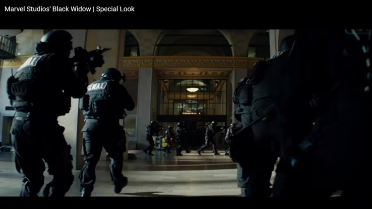 """""""Black Widow"""" features Macon's old Terminal Station"""