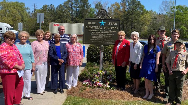 Laurens County Blue Star Memorial honoring veterans unveiled at I-16 rest area