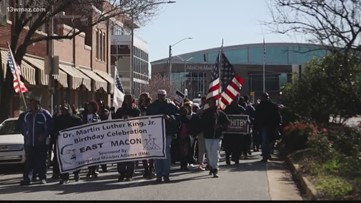 Macon community marches on Martin Luther King Jr. Day