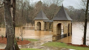 Amerson River Park closes indefinitely due to flooding