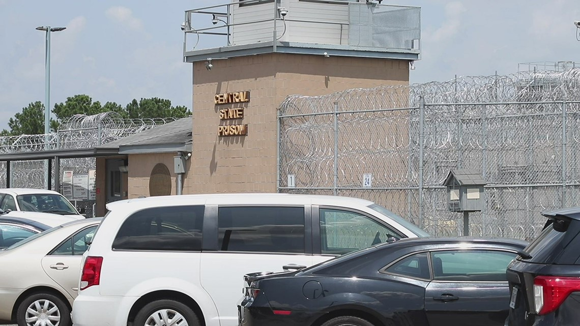 Scene at Central State Prison after fatal inmate stabbing
