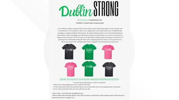 'Dublin Strong' fundraiser helps local businesses with t-shirt sales