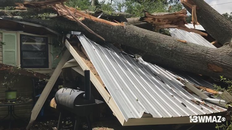 Tree falls on home due to storms in Cochran