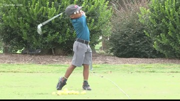 5-year-old golfer competes in world competition