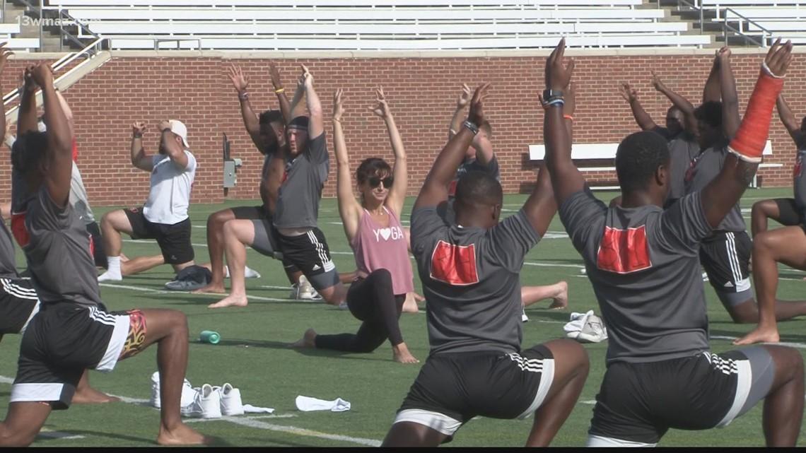 Mercer Football adds yoga into offseason workouts