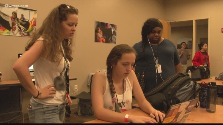 High schoolers learn about storytelling at Mercer Digital Media Summer Camp