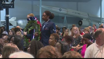 Robins Air Force Base remembers fallen airmen in early Memorial Day ceremony