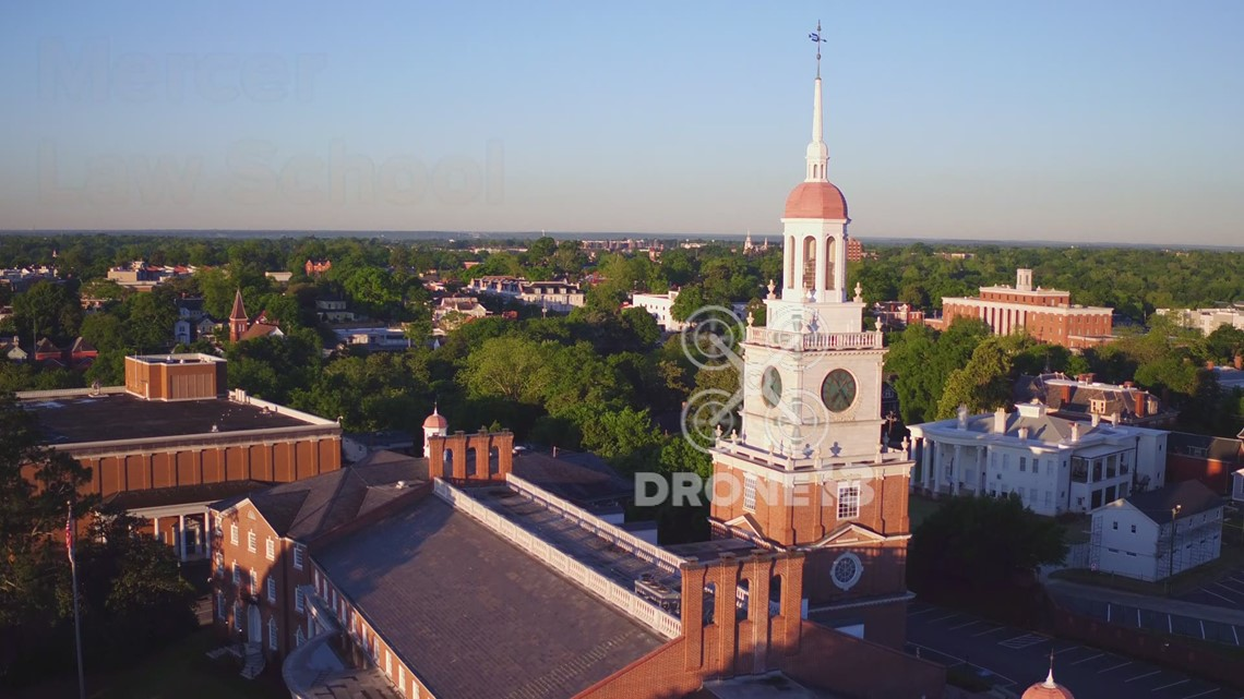 Mercer Law School and Woodruff House from #Drone13