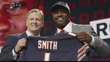 Chicago Bears linebacker, Macon County native Roquan Smith growing with football