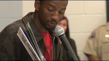 Retired NFL player, Super Bowl champ Malcolm Mitchell visits students to encourage reading