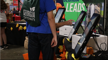 New voting machines on display at the Georgia National Fair