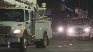 Georgia Power line crews head out to the coast