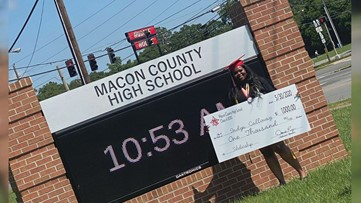 Macon County high school graduate surprised with scholarship