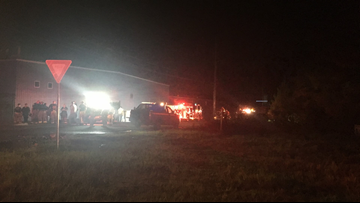 Milledgeville crews battle fire at chemical plant