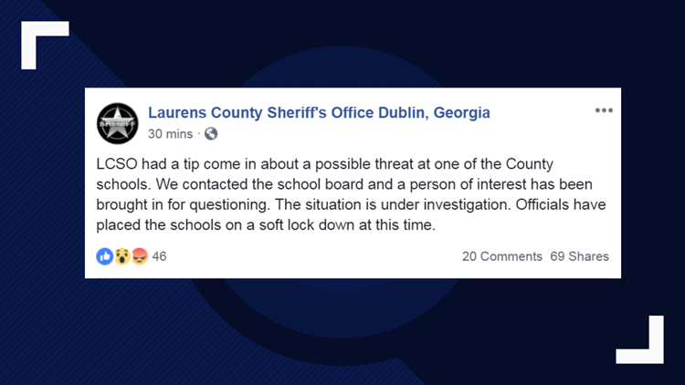 Juvenile In Custody After Threat Made Against Laurens County Dublin City Schools 13wmaz Com