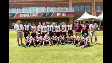 Perry Panthers Visit Atlanta Falcons at Training Camp