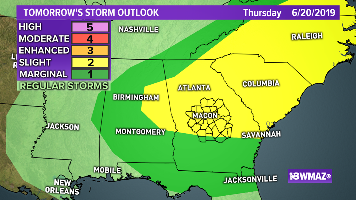 More Storms Possible Tomorrow, a Few Could be Strong