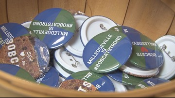 Georgia College and State University buttons to help first responders