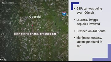 Man wrecks in Laurens County after leading deputies, GSP on high-speed chase
