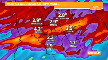 TIMELINE | A widespread soaking rain Tuesday, then cooler air for late week
