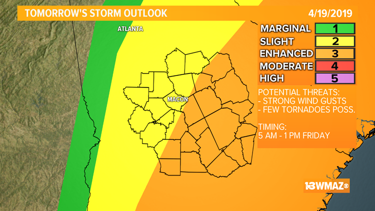TIMELINE | Strong to severe storms possible Friday morning