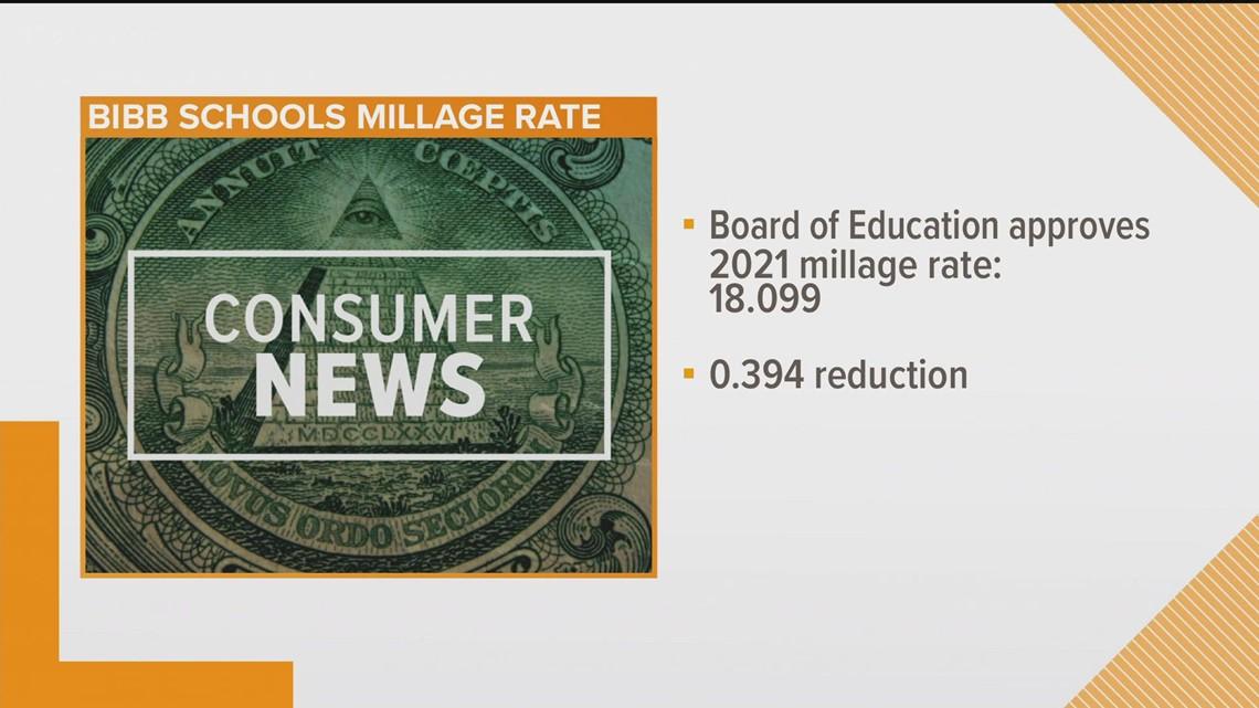 Bibb school board approves rollback of millage rate