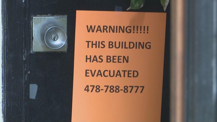 Crystal Lake Apartment evacuation notice