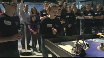 Regional LEGO robotics tournament held at Museum of Aviation