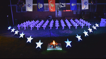'They've got wounds, too:' Warner Robins man creates Memorial Day display