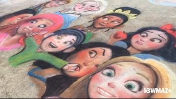Chalk artists show off their skills at Stratford Academy's Sidewalk Chalk Festival