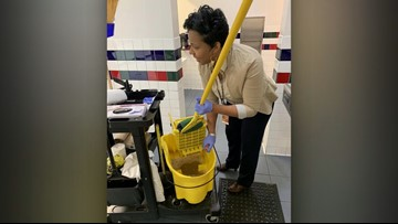Texas principal steps up to clean school during custodian's emergency