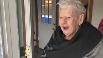 'I love it very, very, very much' | 96-year-old's reaction to season's first snowfall is priceless