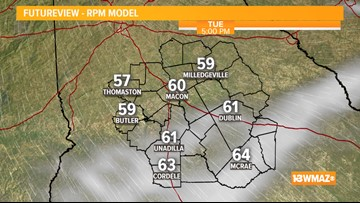 Showers and clouds this morning, more sun for the afternoon