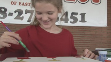 'It makes my heart feel good:' How one Laurens Co. girl is giving back by painting