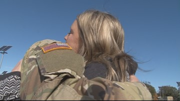 'He's my everything:' Families of 48th Brigade say goodbye to soldiers