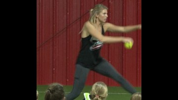 Houston County Grad Jessica Burroughs Returns to Central Georgia for pitching Clinic