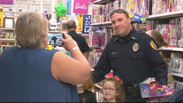 2nd annual Shop with a Cop event kicked off in Warner Robins