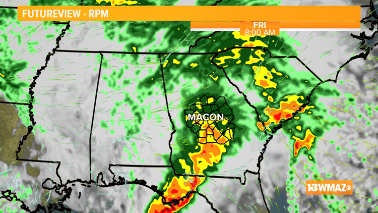 Still mostly dry Thursday afternoon, but rain arrives overnight