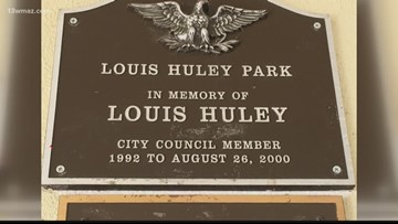 Louis Huley Park honored with new sign