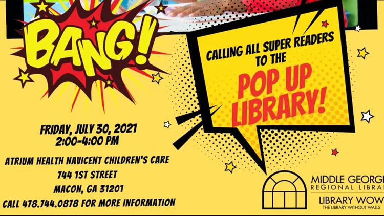 Pop-up library plans Friday stop at Macon children's hospital