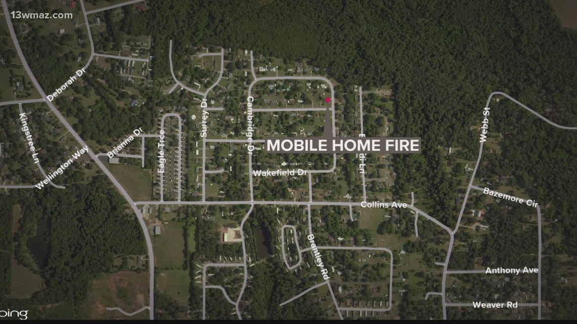 Man safe after mobile home fire in Houston County