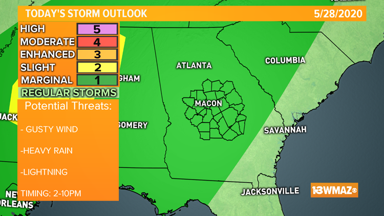 Storms look to fire up Thursday afternoon