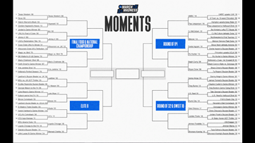 NCAA offers up March Madness Moments bracket