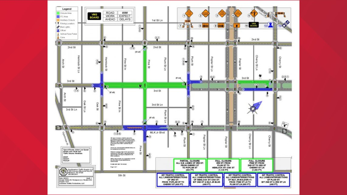 Road Closures In Downtown Macon For