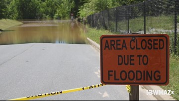 Parts of Amerson River Park, Ocmulgee Heritage Trail closed due to flooding